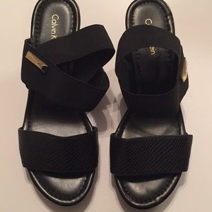 Black Calvin Klein Sandals